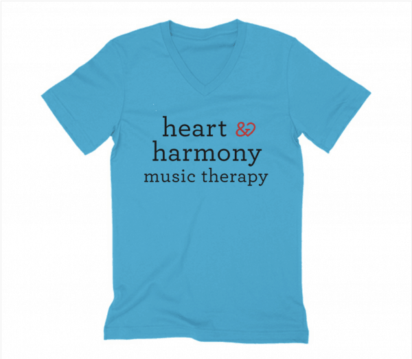 Heart and Harmony Blue V Neck