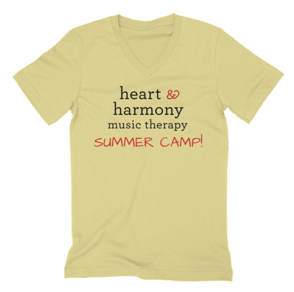 Summer camp adult v neck tee