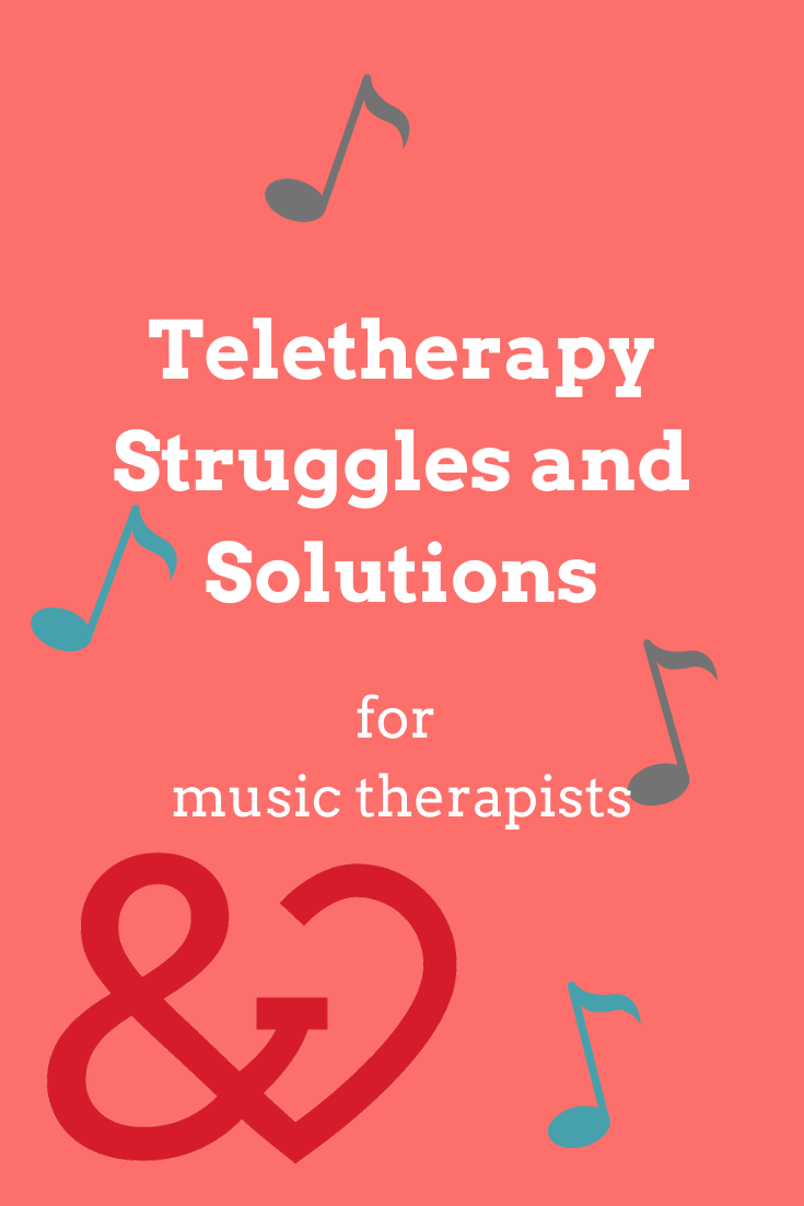 teletherapy solutions for music therapy pin
