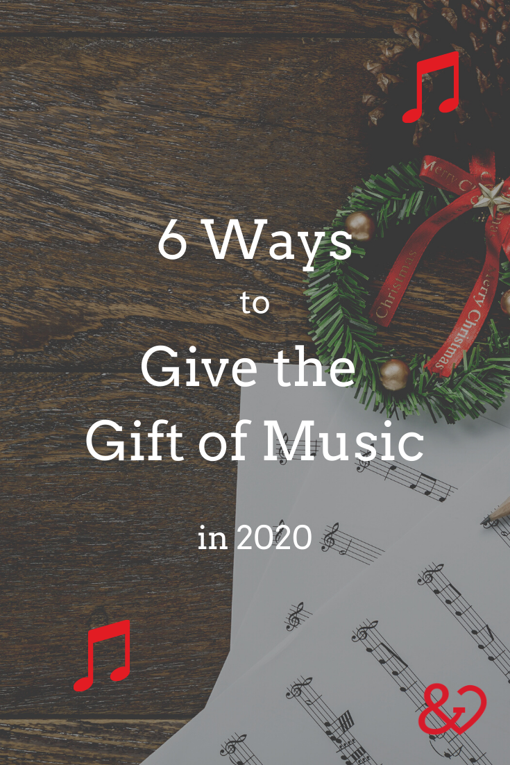 Give the gift of music pinterest